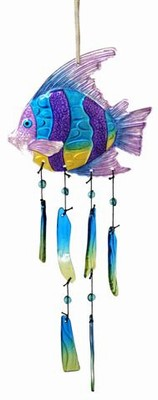 Glass Angelfish Wind Chime
