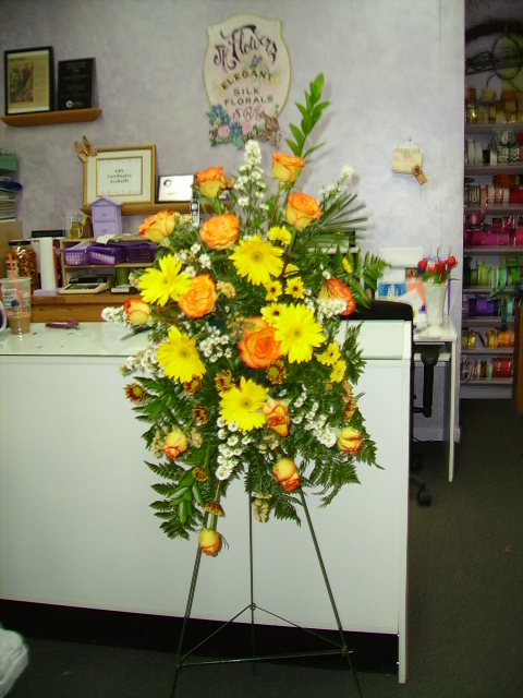 Large Gerber Daisy Rose Stand