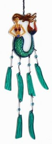 Glass Mermaid Wind Chime
