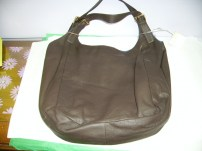 Zina Eva Leather Purse Dark Brown in color