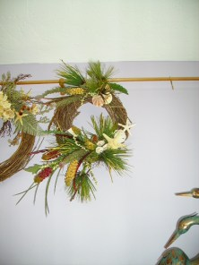 Coastal beach shell wreath
